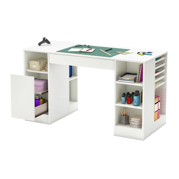 South Shore Crea Collection Pure White Craft Hobby And Sewing Machine