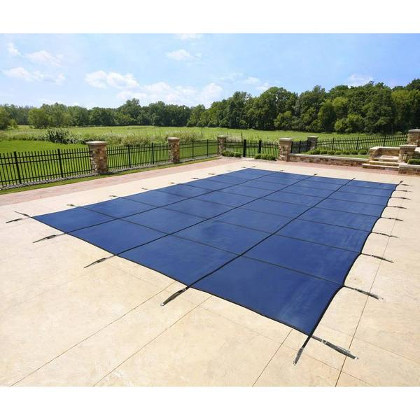 Blue Rectangular In Ground Pool Safety Cover 16620883