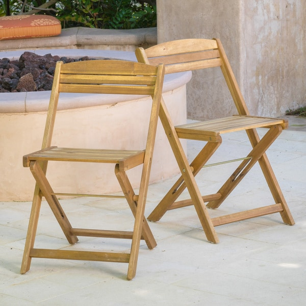 Christopher Knight Home Riviera Wood Folding Chair Set Of