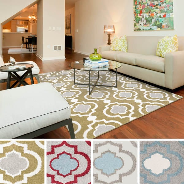 Meticulously Woven Monte Transitional Geometric Area Rug
