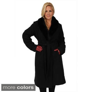 c49ee821b11 review detail Excelled Women s Plus Size Belted Full-length Swing Coat