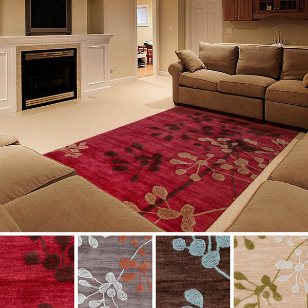 Hand Tufted Ermont Transitional Floral Area Rug 5 X 7 6