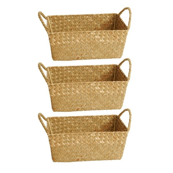 Natural Seagrass-reed Baskets (Set Of 3)