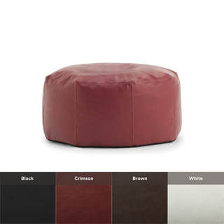 beansack big joe lux vegan leather octagon bean bag ottoman overstock shopping great deals. Black Bedroom Furniture Sets. Home Design Ideas