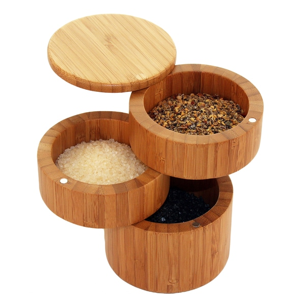 Totally Bamboo 3 Tiered Salt Box