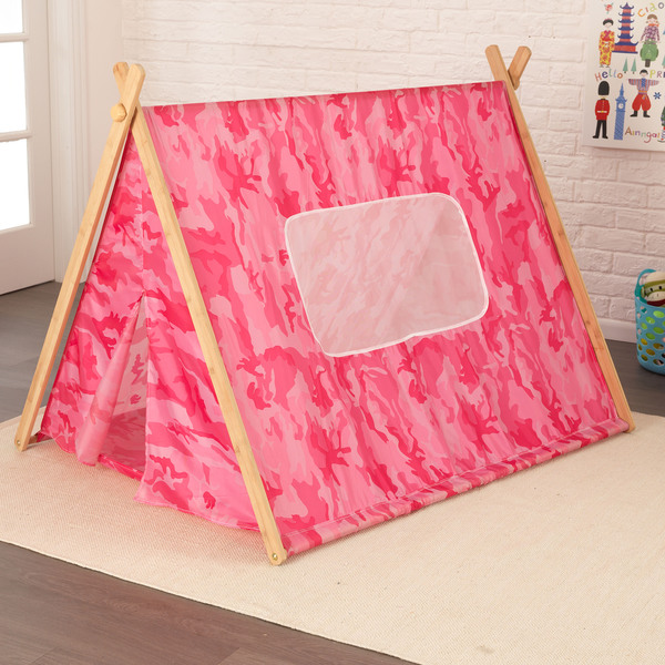 Kidkraft A Frame Pink Camo Tent 16648551 Overstock