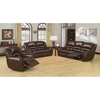 Furniture Of America Harv 3 Piece Bonded Leather Sofa Set Best Buy