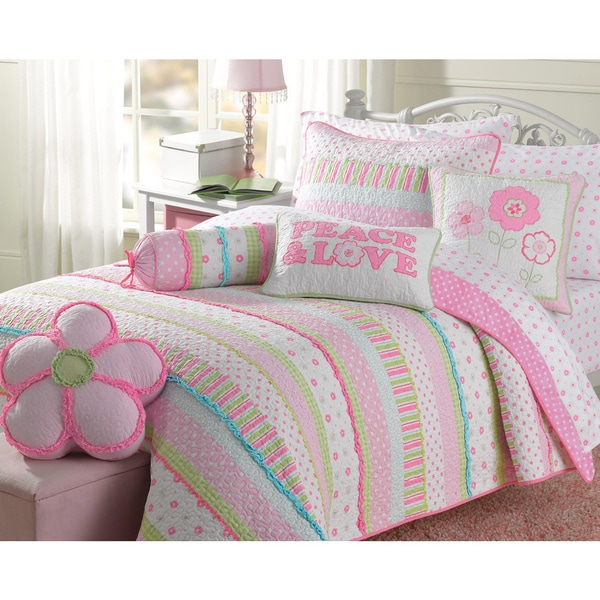 Greta Pastel Cotton 3 Piece Quilt Set 16650033