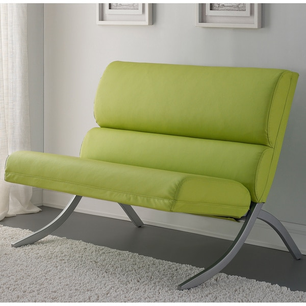 Rialto Lime Green Bonded Leather Loveseat Overstock