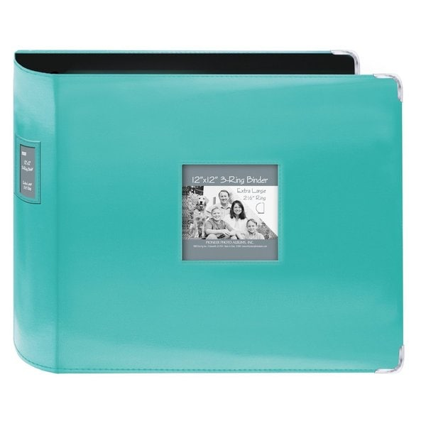 Pioneer Jumbo 3-ring Bright Blue Scrapbook Binder With