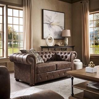 Abbyson Living Tuscan Premium Italian Leather Sofa