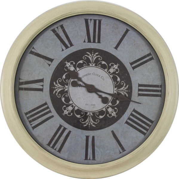 30 Inch Distressed Frame Glenmont Roman Numeral Clock