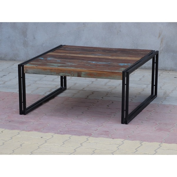 Timbergirl Old Reclaimed Wood Coffee Table (India