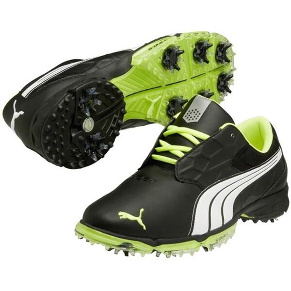 8d85e086a37 Puma Mens Biofusion Lite Black White Fluo Yellow Golf Shoes on PopScreen