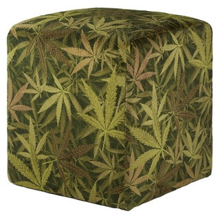 Mjfi Smoking Black And Green Botanical Accent Chair With