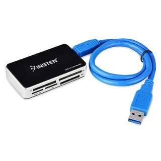 Insten Black/ Silver USB 3.0 Super Speed All-in-1 Multi-card Reader for Compact Flash/ Micro Drive/ SD/ SDHC/ Micro SD/ CF/ MS