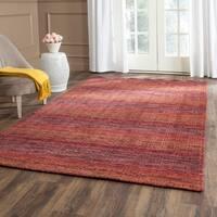 Safavieh Handmade Himalaya Red/ Multicolored Wool Stripe Area Rug (8' x 10') - 8' x 10'