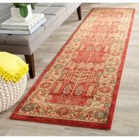 Safavieh Mahal Traditional Grandeur Red/ Natural Rug - 2'2 x 8'