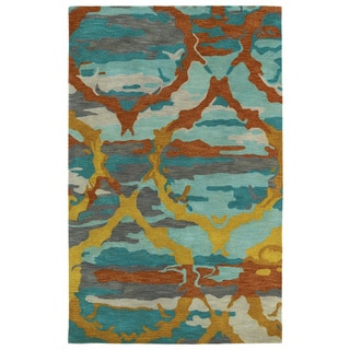 Nuloom Modern Abstract Painting Multi Rug 7 10 X 11