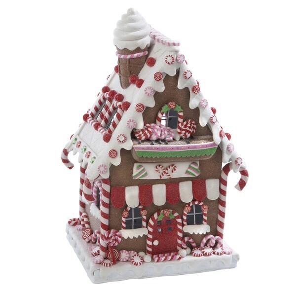 Gingerbread Home Decor: Kurt Adler 13.5-inch Claydough LED Gingerbread House