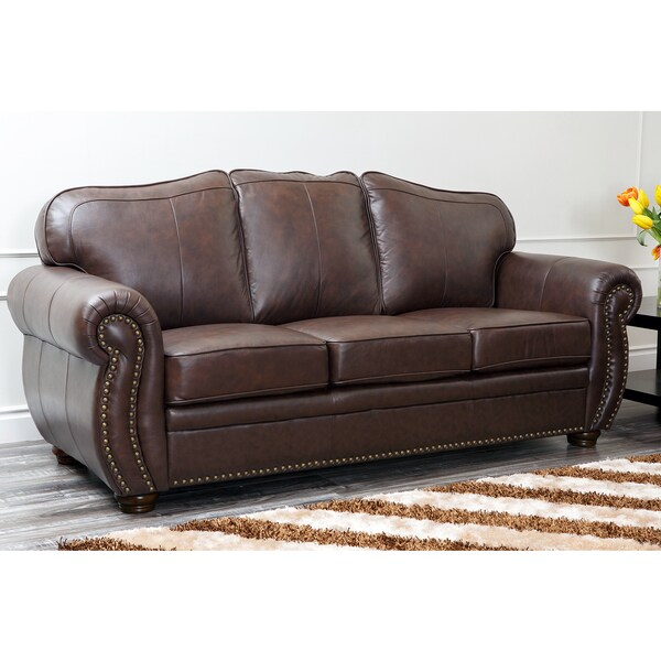 Abbyson Living Richfield Top Grain Leather Sofa 16692858