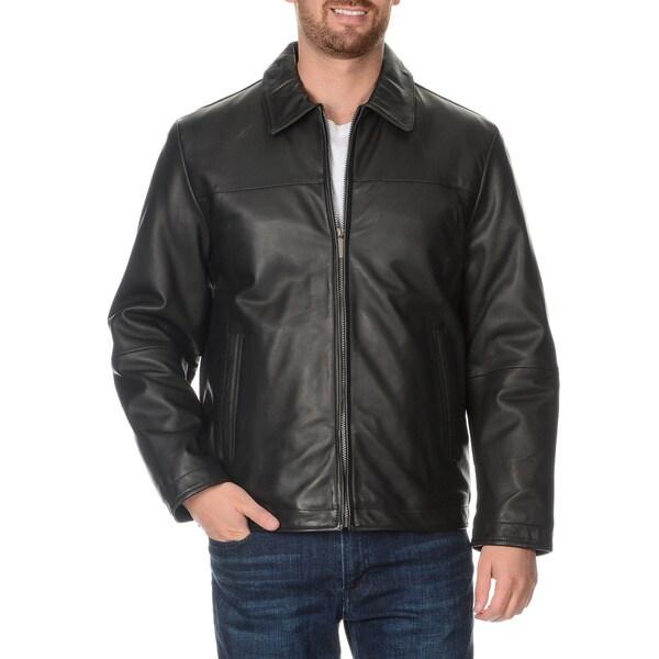 Perry ellis lambskin leather jacket