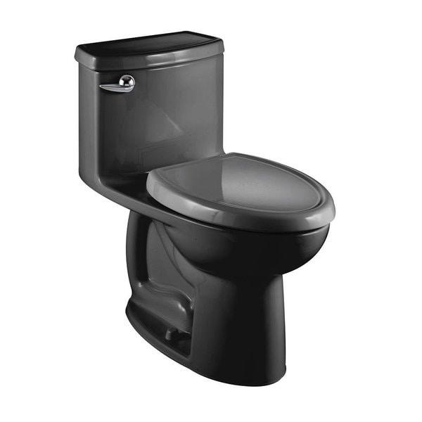 American Standard Black Compact Cadet 3 Flowise 1 Piece Toilet
