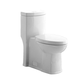 Ariel Opal 2 Piece Dual Flush Black Toilet 12108860