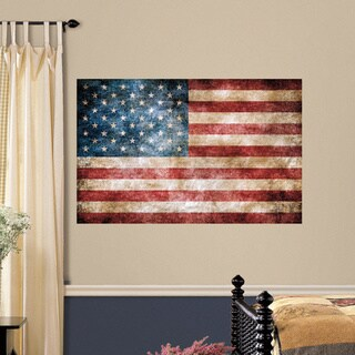 Americana Antique Style American Flag Metal Wall Decor