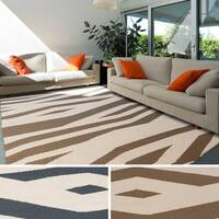 Hand-woven Rosdale Reversible Wool Area Rug - 8' x 11'