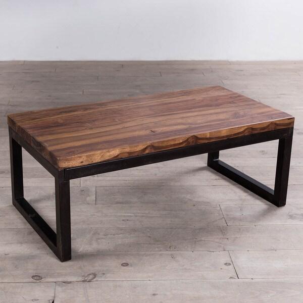 Cordova Reclaimed Wood/ Iron Long Coffee Table (India