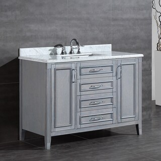 OVE Decors Daniel 48-inch Single Sink Bathroom Vanity with Marble Top