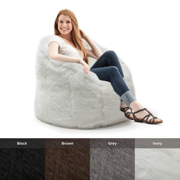 Beansack Big Joe Milano Faux Fur Bean Bag Chair 16718462