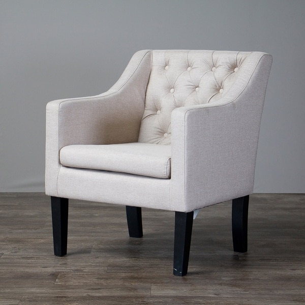 Baxton studio brittany upholstered button tufted modern - Modern upholstered living room chairs ...