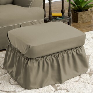 Tailor Fit Relaxed Fit Twill Ruffled Ottoman Slipcover