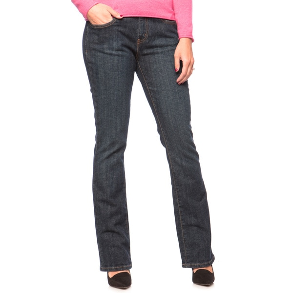 939733a3199 Levis Womens Petite Dark Ice Mid rise Bootcut Jeans on PopScreen