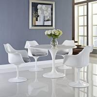 "Lippa White Cushioned Dining Armchair (Set of 4) - 23.5""l x 27""w x 33.5""h"