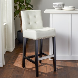 Elmo Bonded Leather Bar Stool 17365259 Overstock Com