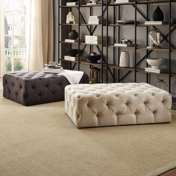 Tribecca Home Knightsbridge Rectangular Linen Tufted