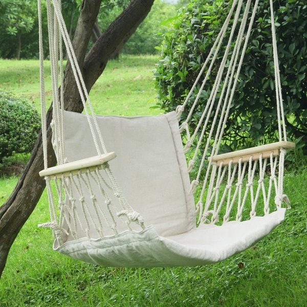Adeco Natural Colored Hammock Chair