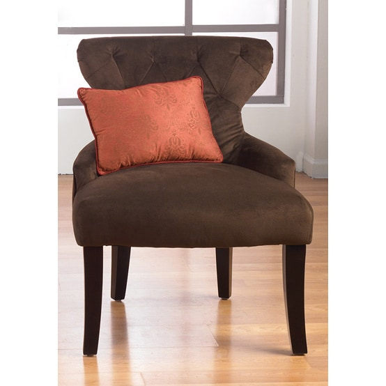 Curves Hour Glass Easy Care Fabric Accent Chair 16744390