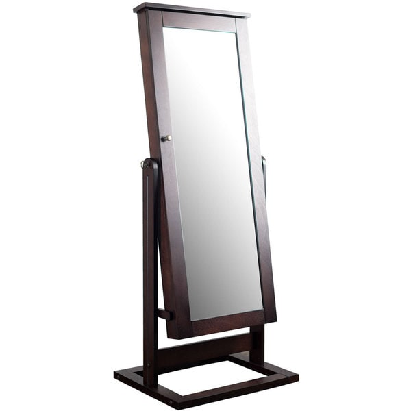 Hives & Honey Cheval Mirror Jewelry Armoire - Overstock ...