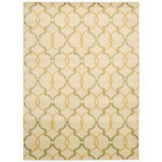 Handwoven Winnipeg Green Wool Rug 5 X 8 15055226