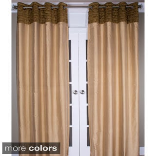 Lush Decor Taupe 84 Inch Waldorf Curtain Panel 14120084