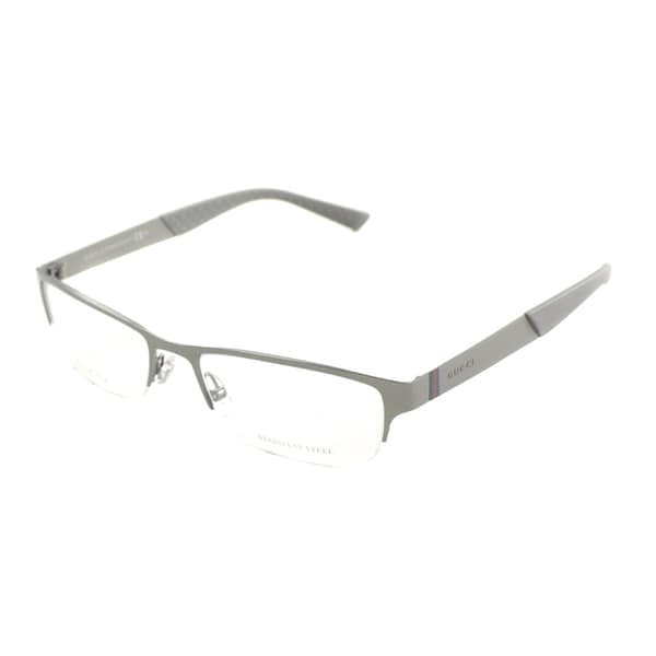 Gucci Men S Gg 2230 R80 Semi Rimless Eyeglasses