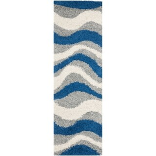 Safavieh Handmade Wyndham Blue Grey Wool Rug 2 3 X 11