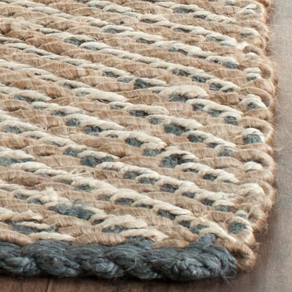Safavieh Hand Woven Natural Fiber Blue Natural Jute Rug