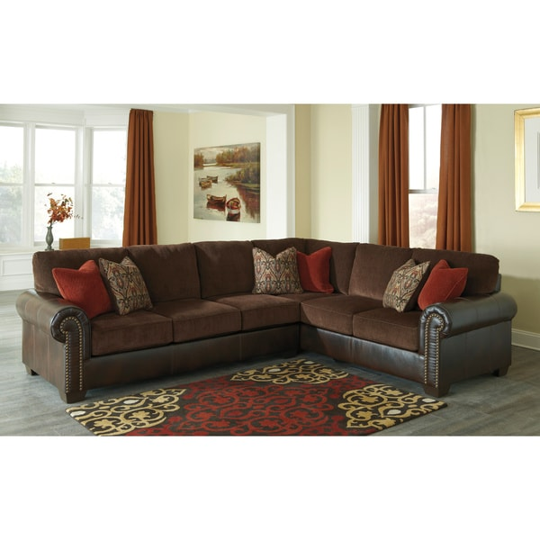 Signature Design By Ashley Arlette Truffle Sectional 2