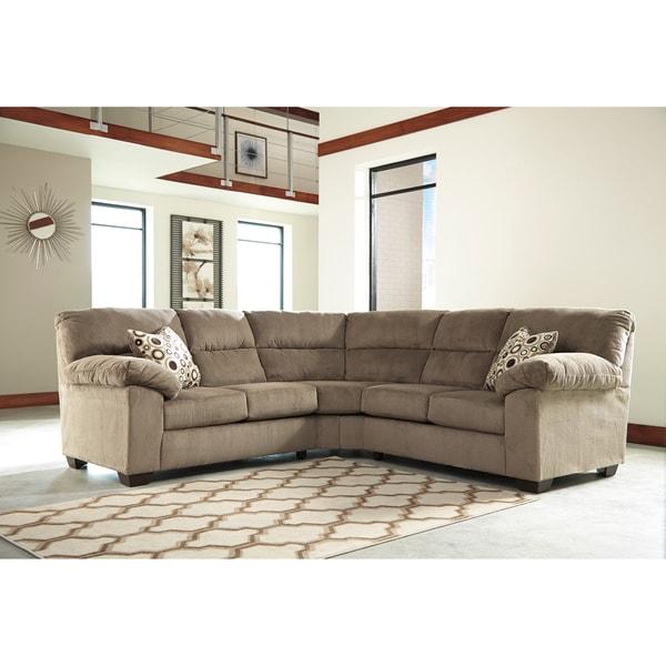 Ashley Furniture Louisville Kentucky: Signature Design By Ashley Roldan 2-piece Mocha Loveseat