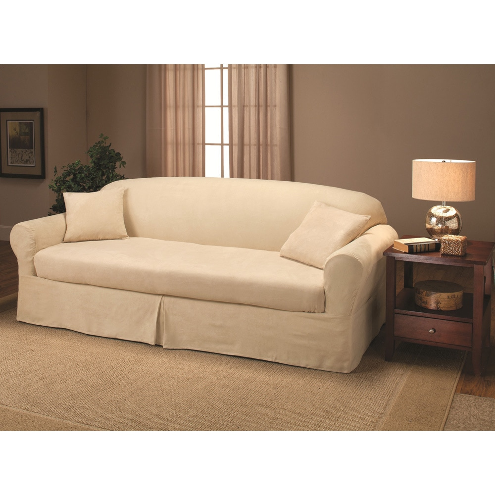Suede 2 Piece Sofa Slipcover Overstock Shopping Big